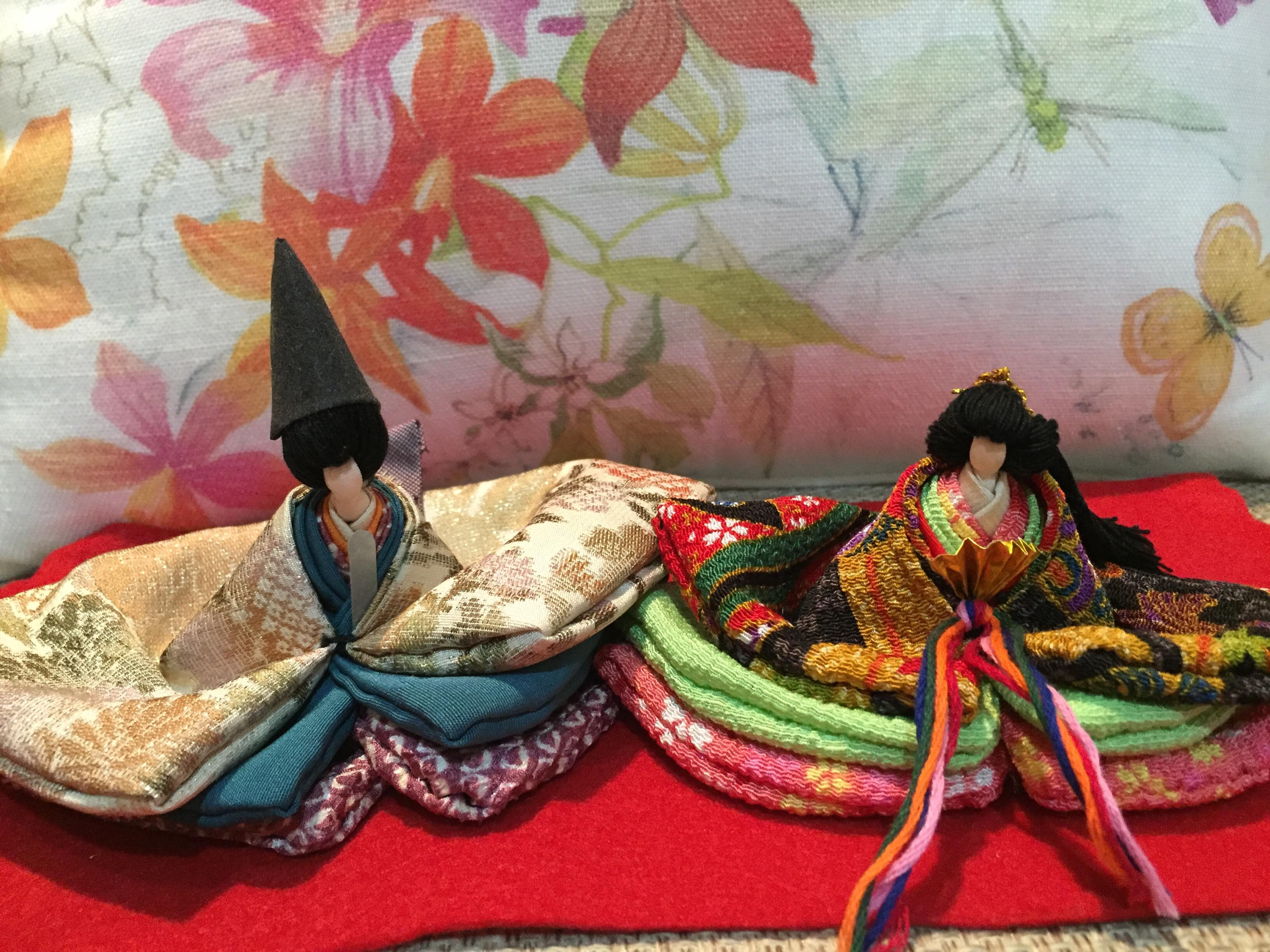 雛人形と大人ビジューネイル